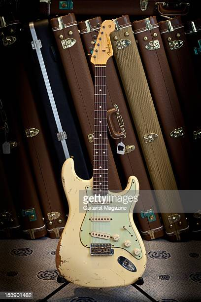 Fender Custom Shop Team Built Heavy Relic 60 Stratocaster electric guitar on display at Longleat House October 14 2010