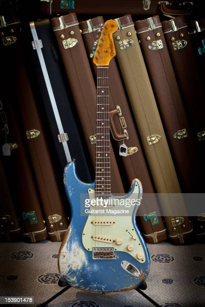 Fender Custom Shop Team Built Heavy Relic 62 Stratocaster electric guitar on display at Longleat House October 14 2010