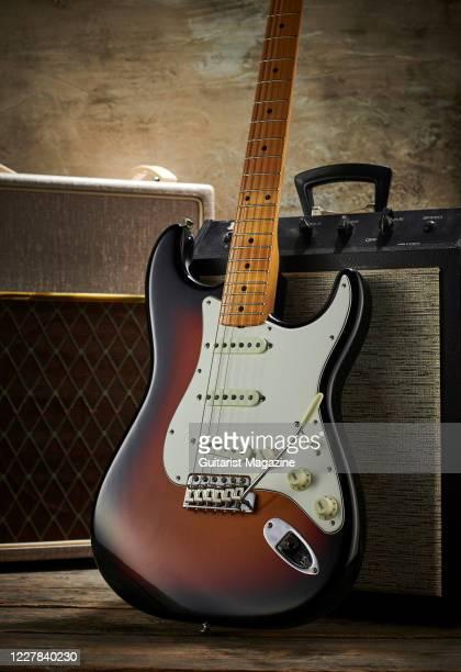 Fender Custom Shop Vintage Custom 62 Stratocaster electric guitar with a 3-Color Sunburst finish, taken on September 11, 2019.