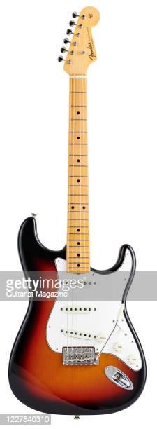 Fender Custom Shop Vintage Custom 62 Stratocaster electric guitar with a 3-Color Sunburst finish, taken on September 16, 2019.
