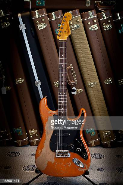Fender Custom Shop Yuriy Shishkov Masterbuilt Heavy Relic 61 Stratocaster electric guitar on display at Longleat House October 14 2010