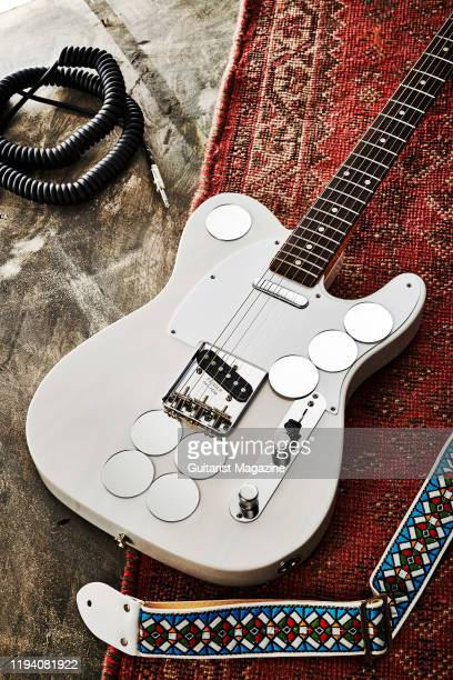 A Fender Jimmy Page Mirror Telecaster electric guitar with a White Blonde finish taken on April 18 2019