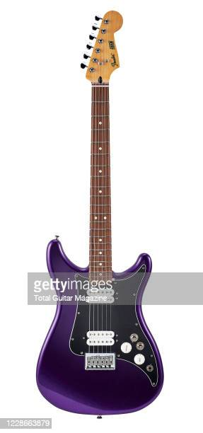Fender Lead III electric guitar with a Metallic Purple finish, taken on February 13, 2020.