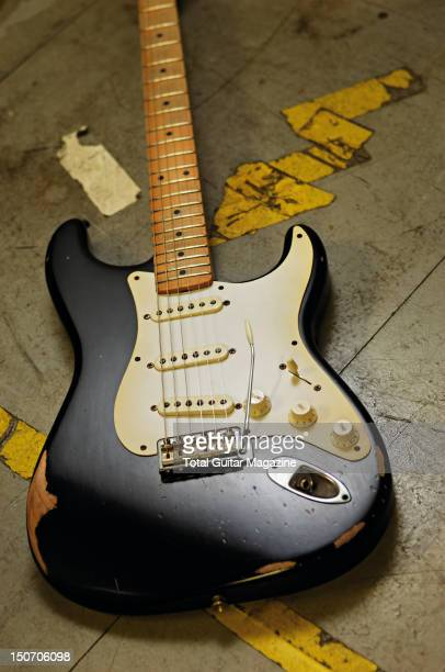 A Fender Road Worn 50s Stratocaster electric guitar taken on August 27 2009