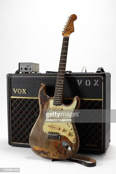 fender stratocaster electric guitar vox ac30 amplifier and news photo getty images. Black Bedroom Furniture Sets. Home Design Ideas