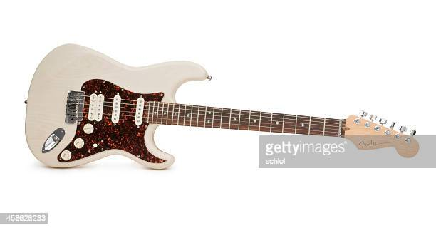 Fender Stratocaster Guitar Isolated on White