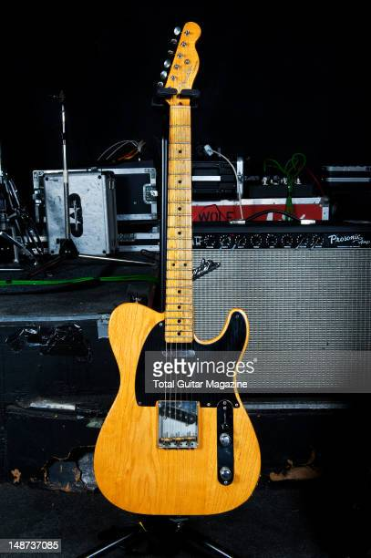 Fender Telecaster electric guitar used by English guitarist and Songwriter Andy Powell best know as one of the founding members of rock band Wishbone...