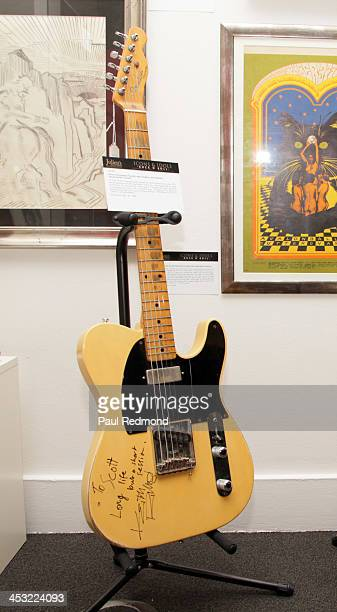 Fender Telecaster guitar autographed by musician Keith Richards at Julien's Auctions present The Trilogy Collection Props and Costumes from Middle...