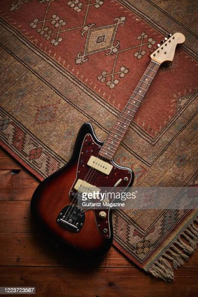 Fender Vintera 60s Jazzmaster Modified electric guitar with a 3-Colour Sunburst finish, taken on August 22, 2019.