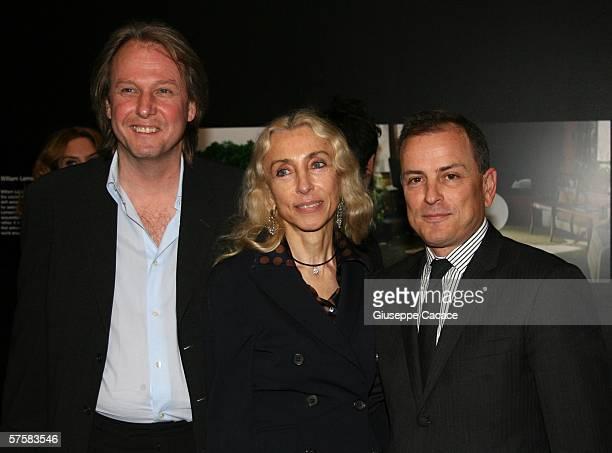 Fendi Ceo Michael Burke Vogue Italy director Franca Sozzani and Jim Moffat attend the launch of Fendi and Vogue Italia's new photography venture...