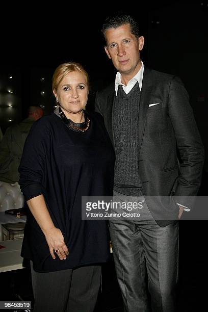Fendi Creative Director for Accessories Silvia Venturini Fendi and Stefano Tonchi attend Fendi And Design Miami Present Design Vertigo: Preview held...