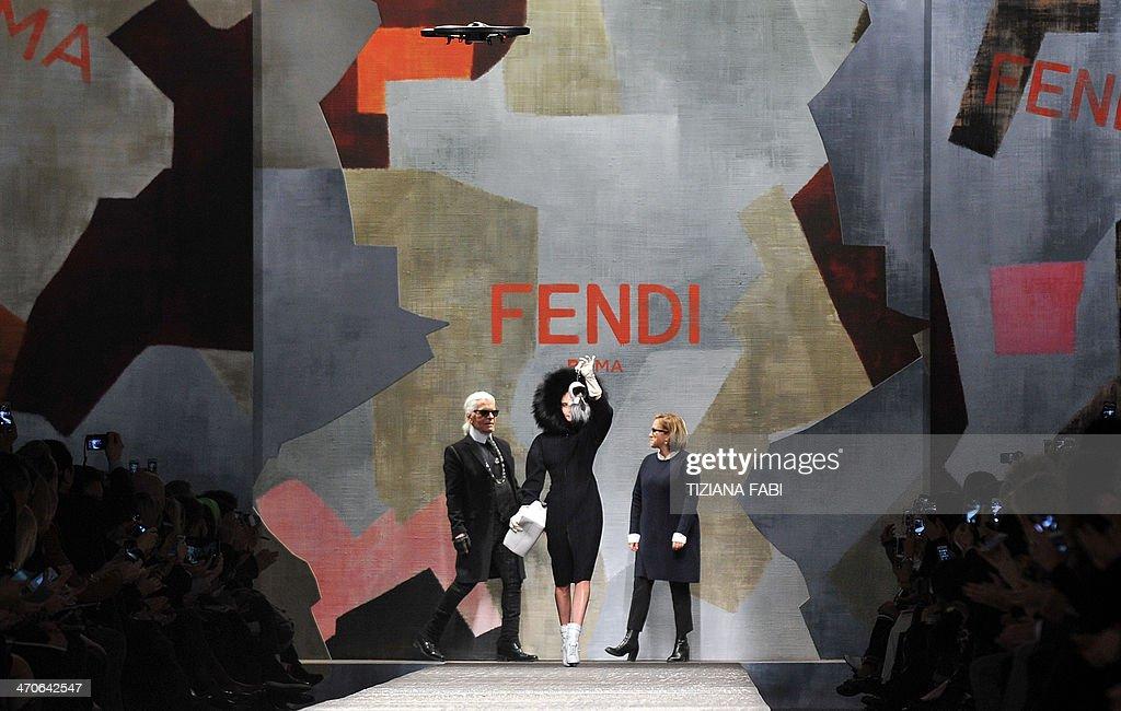 9e50f2cf1ec6 Fendi s German designers Karl Lagerfeld and Silvia Venturini Fendi ...