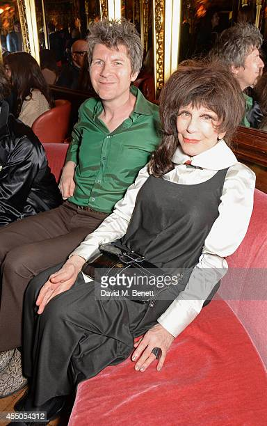 Fenella Fielding and guest attend 'The Gentlewoman' issue launch party at the Oscar Wilde Bar at The Club at Cafe Royal on September 9 2014 in London...