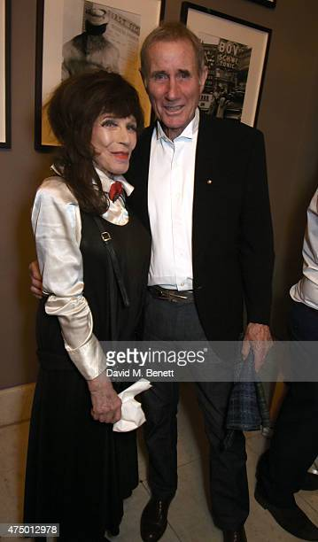 Fenella Fielding and Jim Dale attend an after party following the press night performance of 'Just Jim Dale' at The Waldorf Hilton Hotel on May 28...