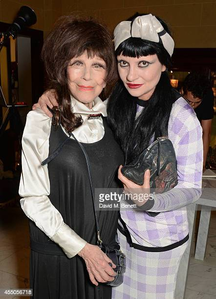 Fenella Fielding and Princess Julia attend 'The Gentlewoman' issue launch party at the Oscar Wilde Bar at The Club at Hotel Cafe Royal on September 9...