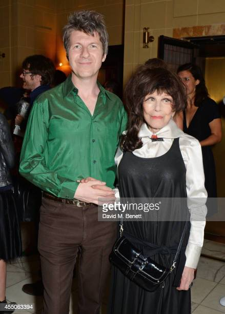 Fenella Fielding and Simon McKay attend 'The Gentlewoman' issue launch party at the Oscar Wilde Bar at The Club at Hotel Cafe Royal on September 9...