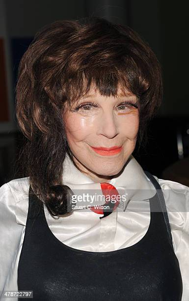 Fenella Fielding attends a private screening of metaFenella at Soho Hotel on March 14 2014 in London England