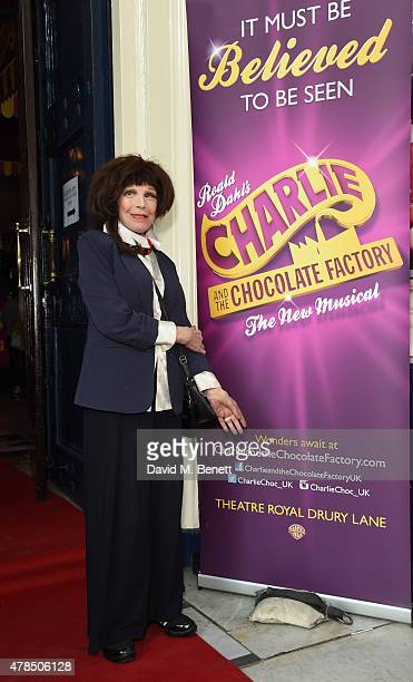 Fenella Fielding attends the Charlie and the Chocolate Factory second birthday in the West End>> at Theatre Royal on June 25 2015 in London England