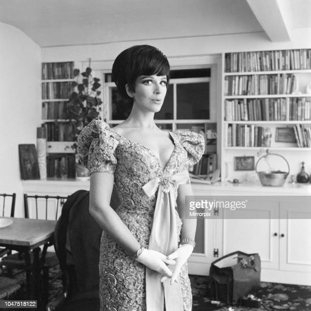 Fenella Fielding English stage film and television actress pictured at home in London Thursday 17th December 1964