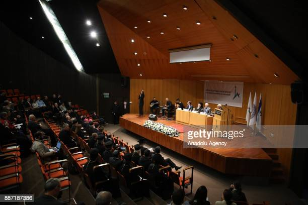 Fener Greek Patriarch Bartholomeos attends the ceremony of receiving the title of honorary PhD from the Hebrew University of Jerusalem, in Eastern...