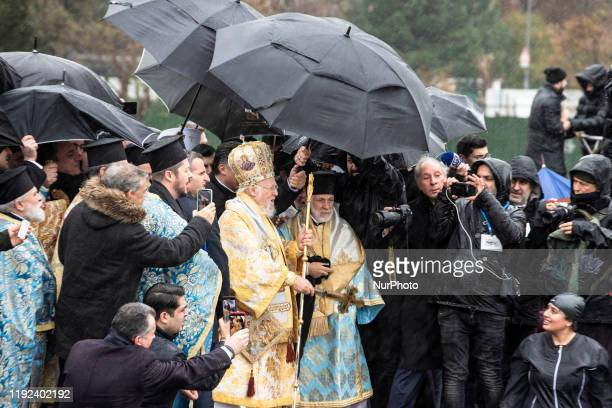 Fener Greek Patriarch Bartholomeos leads a religious ceremony during the Orthodox Epiphany Day marking the anniversary of Jesus's baptism and birth...