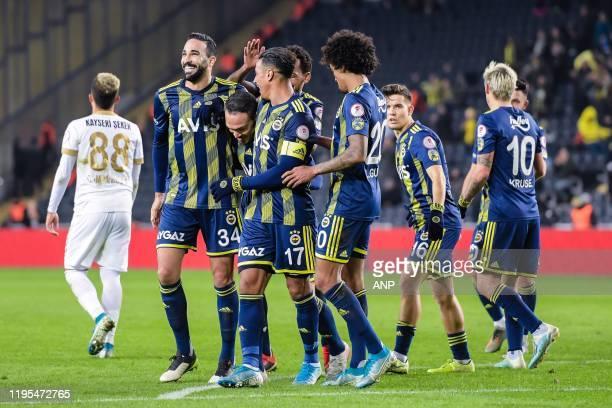 Fenerbahce celebrate the goal of Mevlut Erdinc of Fenerbahce SK during the Ziraat Turkiye Kupasi match between Fenerbahce AS and Istikbal Mobilya...