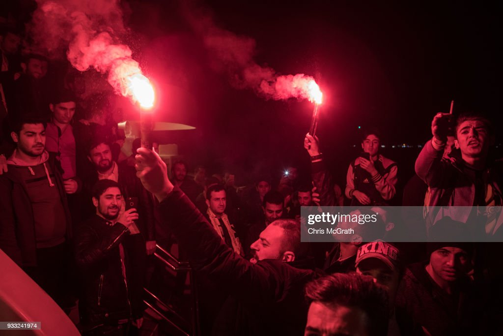 Fan Rivalry Continues At The 2018 Istanbul Derby : News Photo
