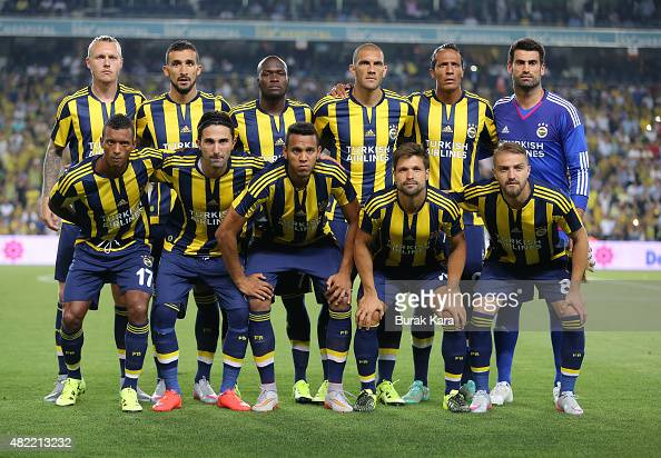 Fenerbahce players pose for a photo before UEFA Champions ...