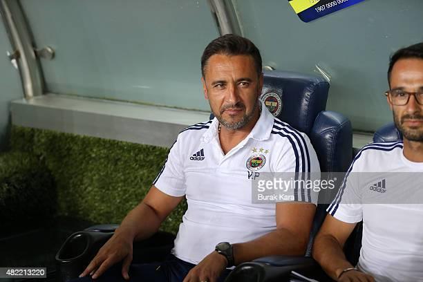 Fenerbahce's coach Vítor Pereira watches UEFA Champions League Third Qualifying Round 1st Leg match betweeen Fenerbahce v Shakhtar Donetsk at Sukru...