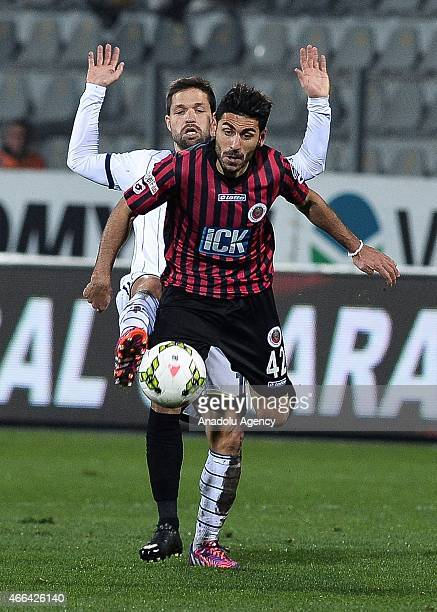 Fenerbahce's Diego Ribas in action against his rival during Turkish Spor Toto Super League football match between Fenerbahce and Genclerbirligi at 19...