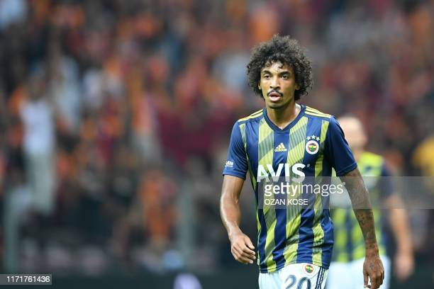 Fenerbahce's Luis Gustavo is seen during the Turkish Super league football match between Galatasaray and Fenerbahce on September 28, 2019 at TT Ali...