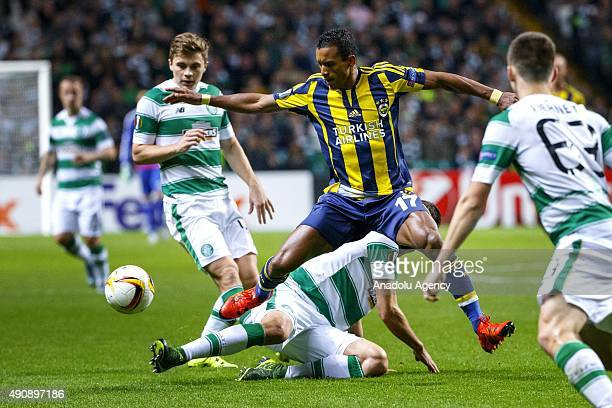 Fenerbahce's Nani vies with Celtic's Nir Biton during the UEFA Europa League Group A match between Celtic FC and Fenerbahce at Celtic Park in Glasgow...