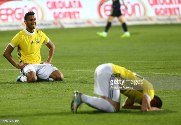 Fenerbahce's players react after their loss against Osmanlispor after the Turkish Super Lig soccer match between Osmanlispor and Fenerbahce at the...
