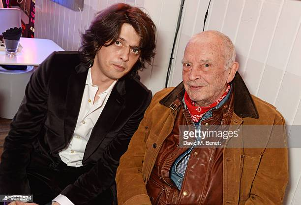 Fenton Bailey and David Bailey attend a private view of Fentoscope Camera Shy presented by Fenton Bailey and supported by Crystal Head Vodka at...
