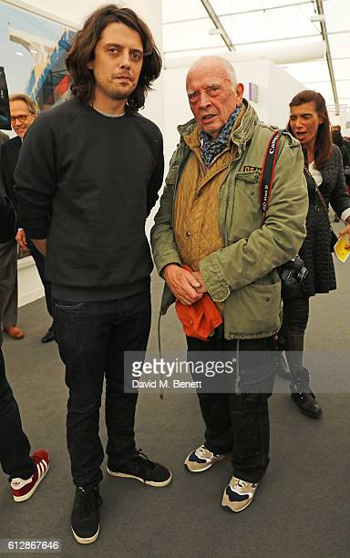Fenton Bailey and David Bailey attend the VIP private view of the Frieze Art Fair 2016 in Regent's Park on October 5 2016 in London England
