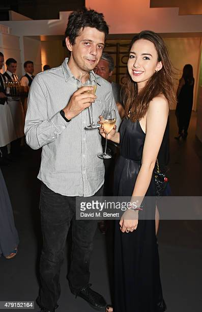 Fenton Bailey and Sarah Stanbury attend the Tiffany Co immersive exhibition 'Fifth 57th' at The Old Selfridges Hotel on July 1 2015 in London England