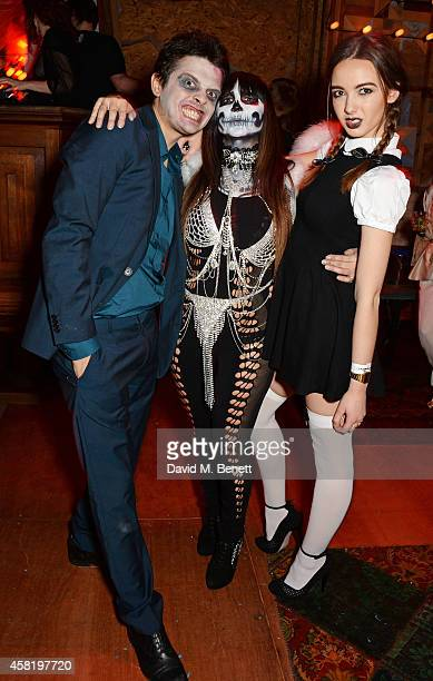 Fenton Bailey Fran Cutler and Sarah Stanbury attend 'Death Of A Geisha' hosted by Fran Cutler and Cafe KaiZen with Grey Goose on October 31 2014 in...