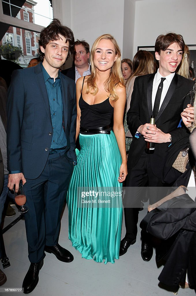 Fenton Bailey, Kimberley Garner and Sascha Bailey attend a private view of 'Human Relations' featuring the photographs of Fenton Bailey and Mairi-Luise Tabbakh, curated by Sascha Bailey, at Imitate Modern on May 1, 2013 in London, England.