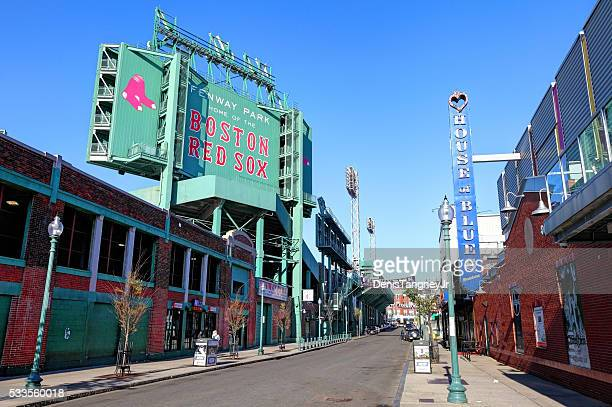 Fenway Park and the House of Blues along Landsdowne Street