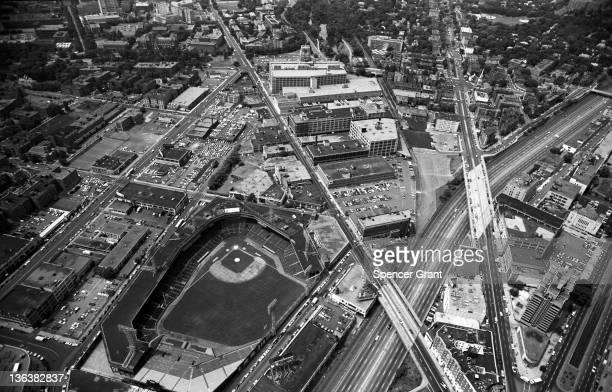 Fenway Park Beacon St Commonwealth Av by Kenmore Square Boston Massachusetts 1975
