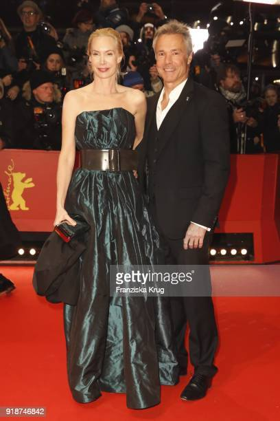 Feo Aladag and Hannes Jaenicke attend the Opening Ceremony 'Isle of Dogs' premiere during the 68th Berlinale International Film Festival Berlin at...