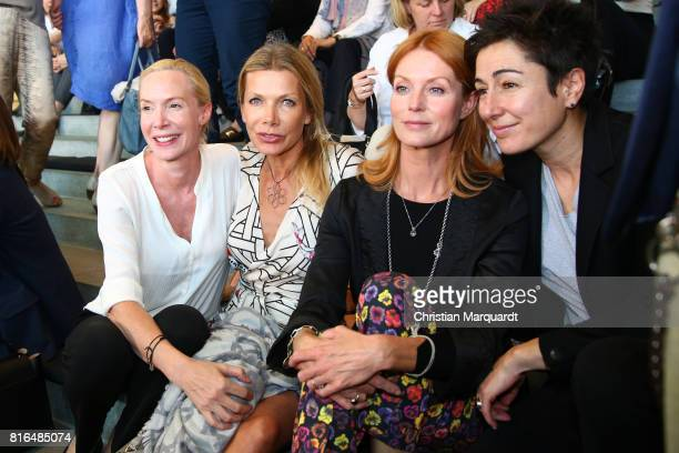 Feo Aladag, Ursula Karven, Esther Schweins and Dunja Hayali attend the '#weiles2017ist' Reception And Closing Ceremony at Bundeskanzleramt on July...