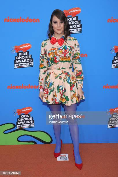 Nataly Pop attends the Nickelodeon Kids' Choice Awards Mexico 2018 at Auditorio Nacional on August 19 2018 in Mexico City Mexico