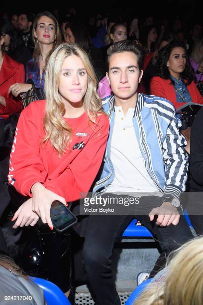 Fer Medina and Andy Zurita attend the Tommy Hilfiger Drive Now show during Milan Fashion Week Fall/Winter 2018/19 on February 25 2018 in Milan Italy