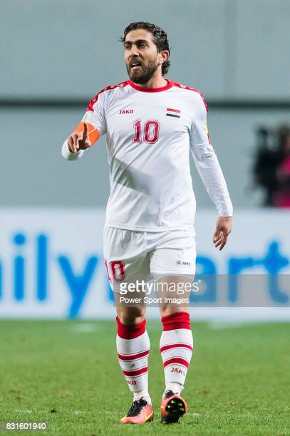 Feras Al Khatib of Syria reacts during their 2018 FIFA World Cup Russia Final Qualification Round Group A match between Korea Republic and Syria on...