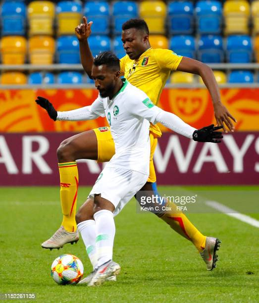 Feras Albrikan of Saudi Arabia scores his team's first goal during the 2019 FIFA U-20 World Cup group E match between Saudi Arabia and Mali at Gdynia...