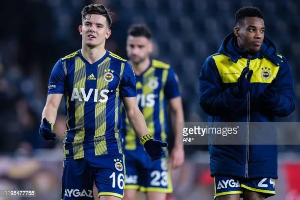 Ferdi Kadioglu of Fenerbahce SK Deniz Turuc of Fenerbahce SK Garry Mendes Rodrigues of Fenerbahce SK during the Ziraat Turkiye Kupasi match between...