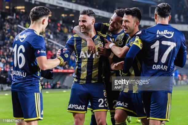 Ferdi Kadioglu of Fenerbahce SK Deniz Turuc of Fenerbahce SK Jailson Marques of Fenerbahce SK Tolgay Arslan of Fenerbahce SK Nabil Dirar of...