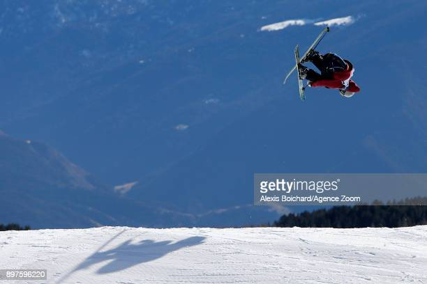 Ferdinand Dahl from Norway takes 2nd place during the FIS Freestyle Ski World Cup Freestyle Slopestyle on December 23 2017 in Font Romeu France