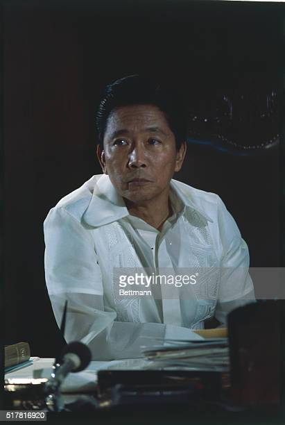 Ferdinand E Marcos President of the Philippines during interview at Malacanang Palace